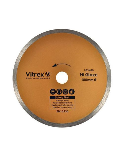 Vitrex Diamond Blade 180mm Hi-Glaze