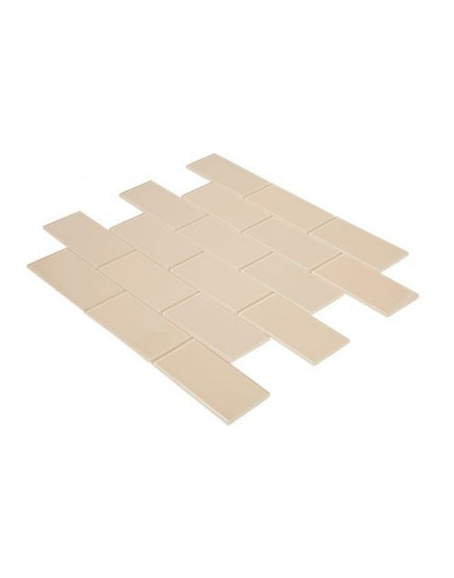 Homelux Creme Brulee Glass Mosaic Tile