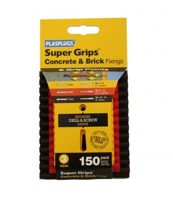 Plasplugs Assorted Solid Wall Supergrip Pack x150