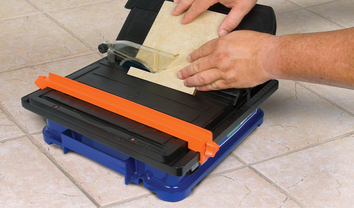 Using your new wet tile cutter